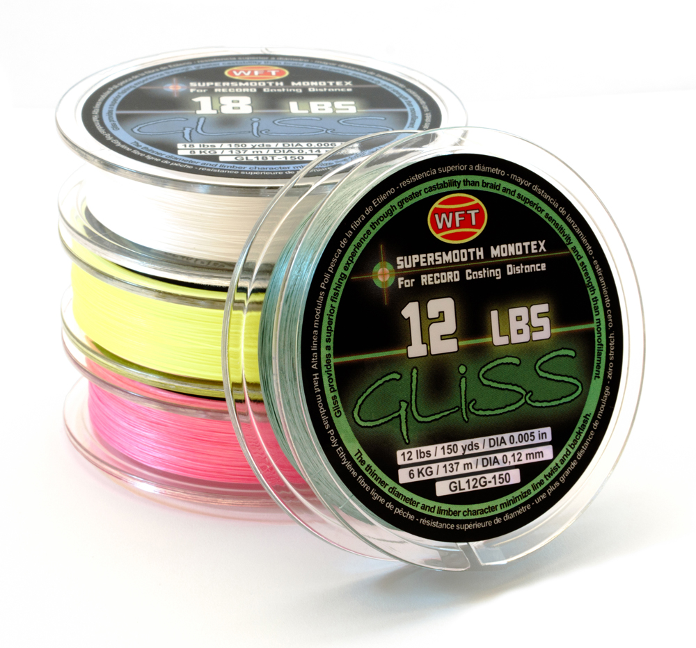 Fishing line gliss 12 pound test for Gliss fishing line