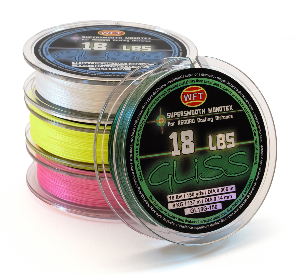 Fishing line gliss 18 pound test for Gliss fishing line